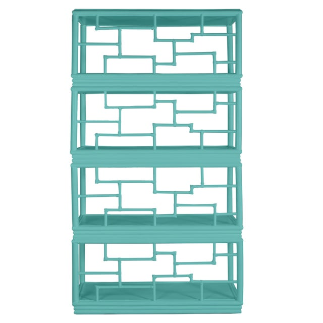 David Francis Tibet Etagere - Turquoise For Sale - Image 4 of 7