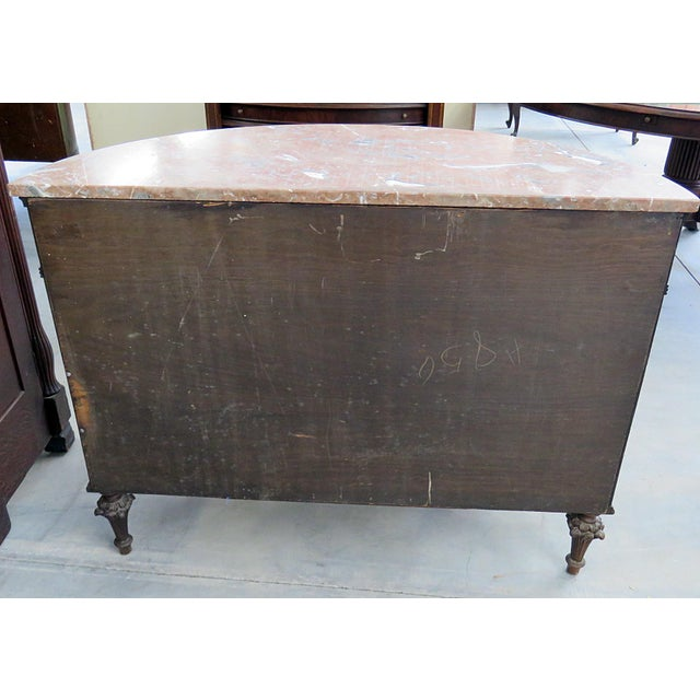 20th Century EnglishTtraditional Adams Style Marble Top Demilune For Sale In Philadelphia - Image 6 of 9