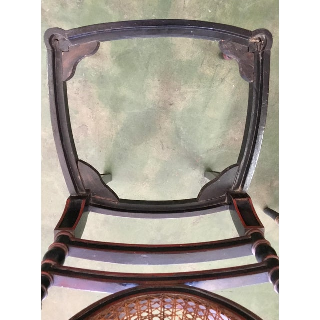 Set of 8 French Cane Dining Chairs Circa 1840 - Two Arm & Six Side Chairs For Sale - Image 12 of 13