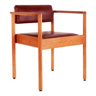 Vintage Mid Century Modern Stylized Oak Arm Chair For Sale