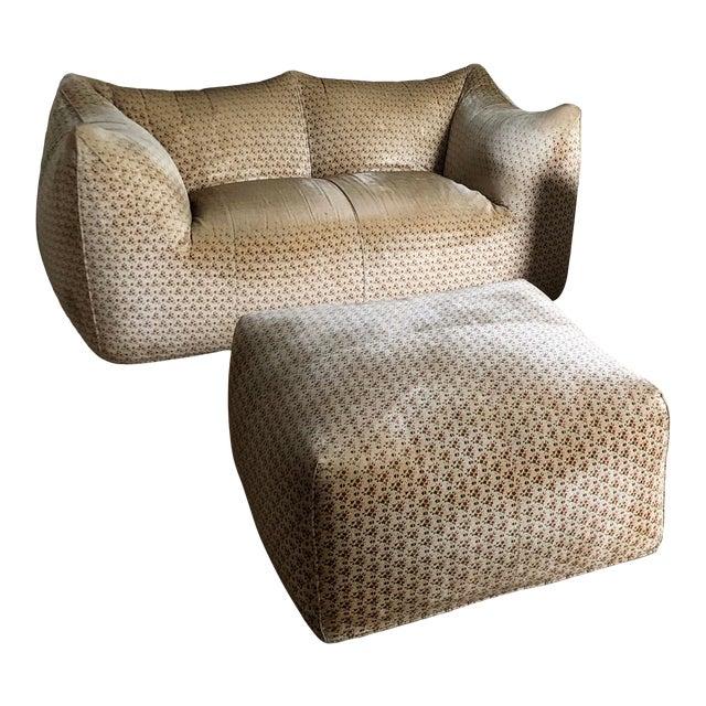 "Original ""Le Bambole"" Sofa With Ottoman - 2 Pieces For Sale"