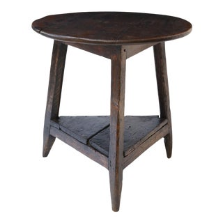 English Oak and Pine Cricket Table For Sale
