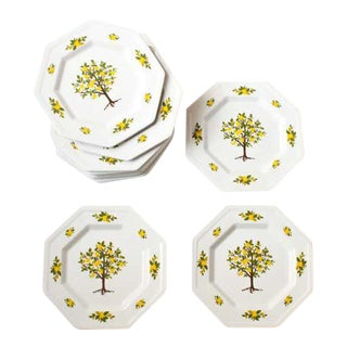Lemon Tree Dessert Plates - Set of 12
