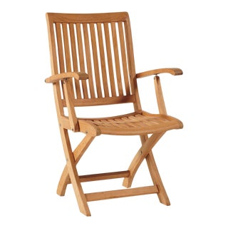 Winford Teak Outdoor Folding Armchair For Sale