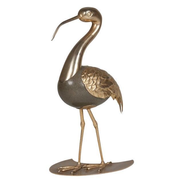 Brass Standing Ibis Sculpture - Image 1 of 7
