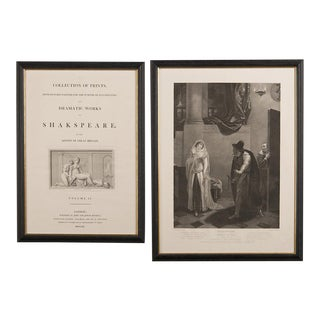 Set Five Engravings of Shakespeare's Plays, England 1803