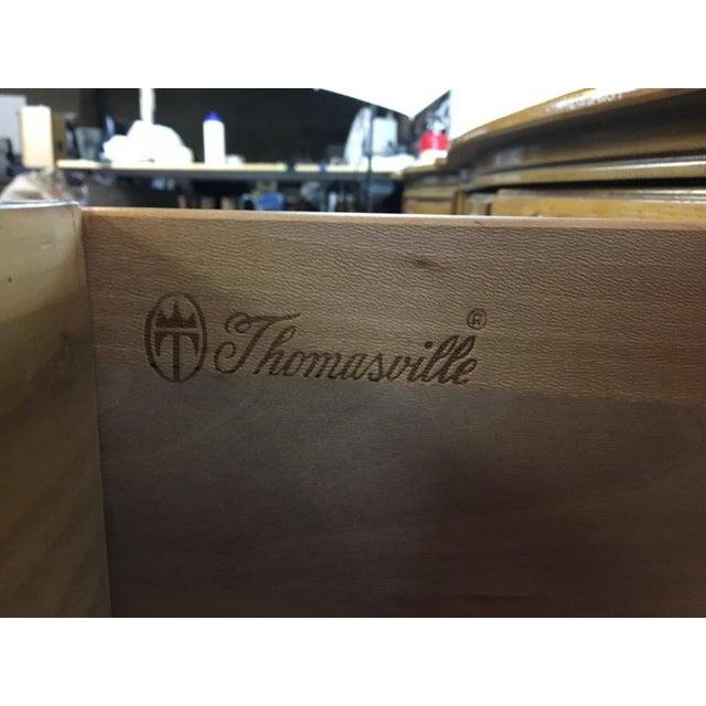 Vintage Thomasville Carved Wood French Provincial 'Court Triple' Dresser - Image 11 of 11