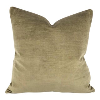 F. Schumacher Antique Linen Velvet Pebble Pillow Cover For Sale