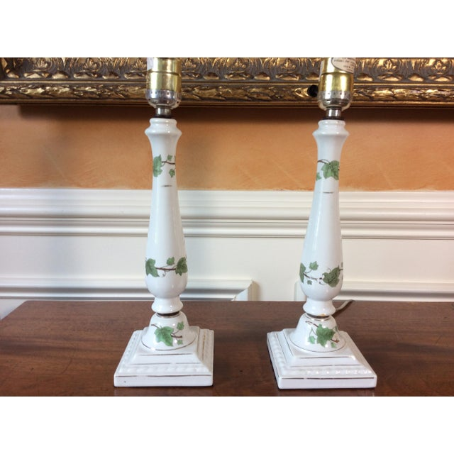 Vintage Ceramic Lamps - A Pair - Image 5 of 6