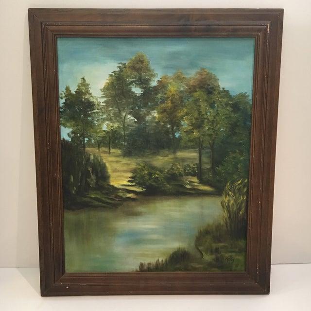 Wooden Framed Landscape Oil Painting - Image 2 of 7
