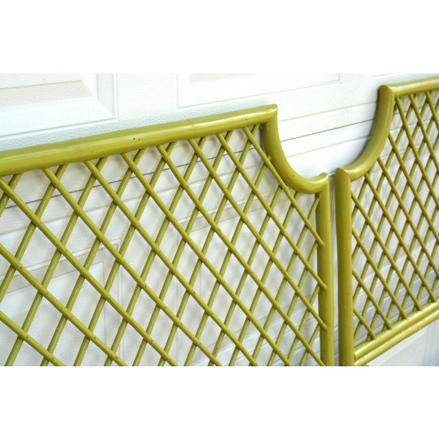 This listing is for a pair of midcentury vintage, rattan twin headboards. They have been freshly painted in a pretty,...