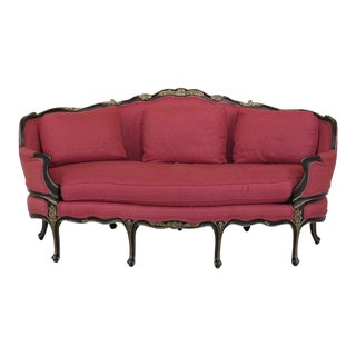 Vintage EJ Victor French Louis XV Style Sofa For Sale