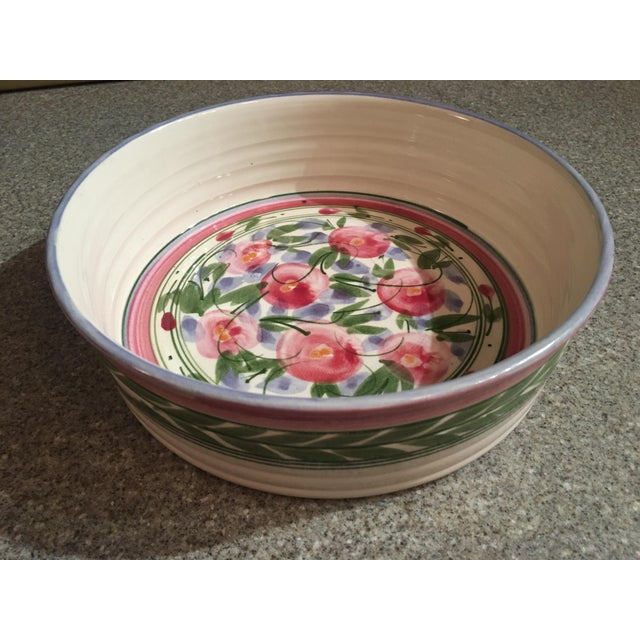Ceramic Signed Vintage Liz Vigoda Art Pottery Bowl For Sale - Image 7 of 7