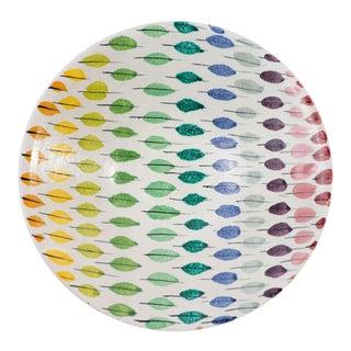 Bitossi Italian Ceramic Multicolored Piume Feather Bowl For Sale