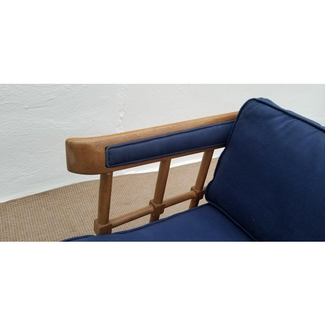 Fabric 1970s Mid-Century Modern Barrel Back Club Lounge Chair For Sale - Image 7 of 12