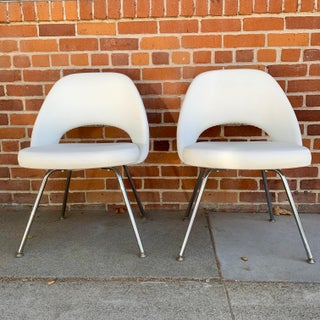 Knoll Saarninen White Executive Chairs- A Pair Preview