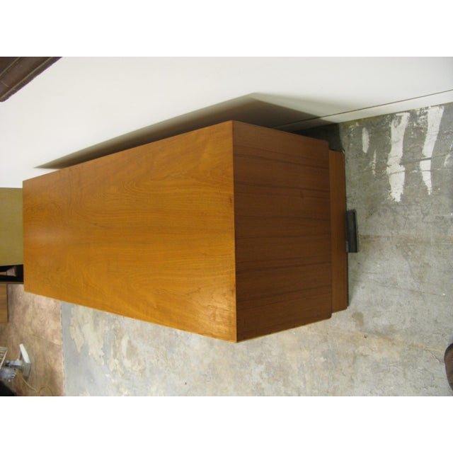 Mid-Century Modern 1970s Danish Teak Media Cabinet For Sale - Image 3 of 13