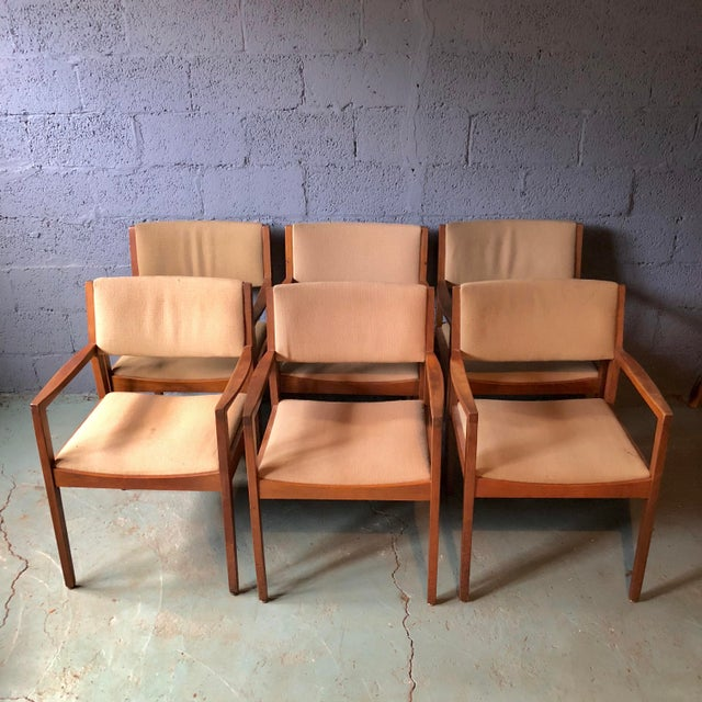 Wonderful set of 6 dining chairs from Taylor Chair Company, made in Bedford, OH in the 1960's. The tags and labels are...