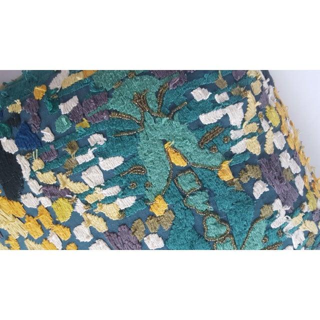 Velvet Beaded Throw Pillows - A Pair - Image 4 of 7