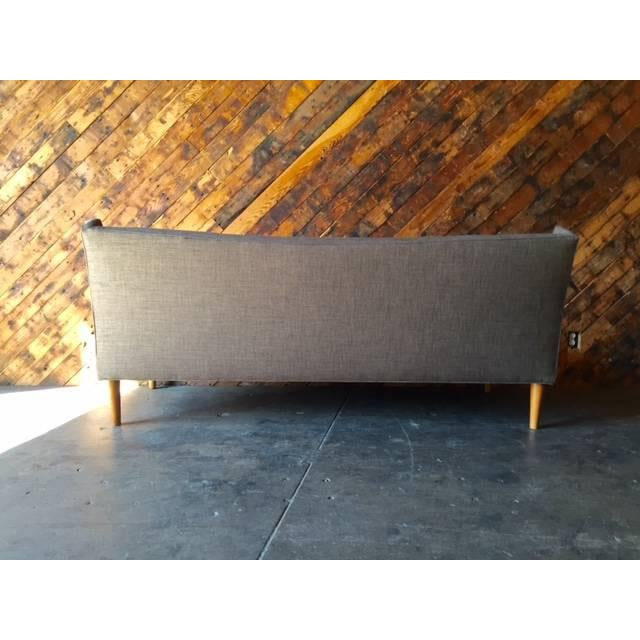 Mid-Century Style Custom Mustard Sofa For Sale - Image 5 of 5