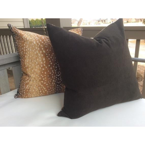 """Gorgeous woven chenille pillows in """"Antelope"""" pattern by Lee Industries. They have wonderful subtle spotting in a rich..."""