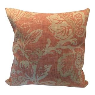 Handmade Spring Floral Linen Pillow For Sale