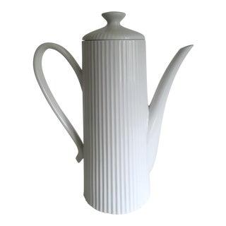 Vintage Mid-Century Modern Monumental Xtra Lrg Porcelain Coffee Tea Serving Pot For Sale