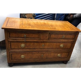 19th Century Antique Neoclassical Inlaid Walnut Chest of Drawers Preview