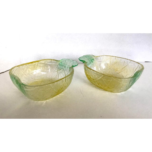 Pineapple Glass Bowls - A Pair - Image 3 of 3