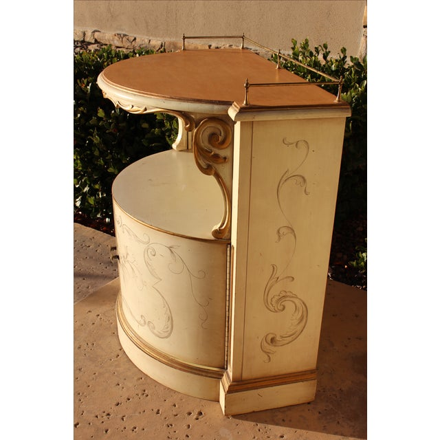 Brass Karges Painted Demilune Nightstand - Pair For Sale - Image 7 of 11