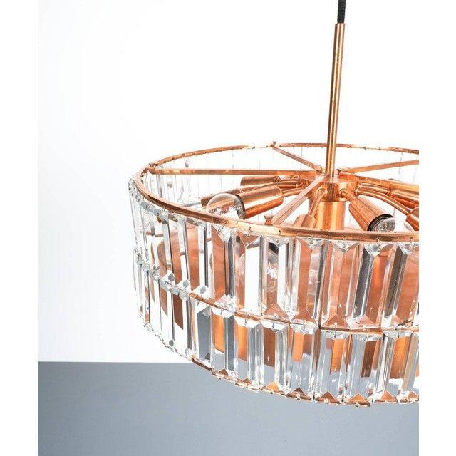 Mid-Century Modern Jo Hammerborg Attributed for Fog & Mørup Large Chandelier Denmark Lamp, 1960 For Sale - Image 3 of 8