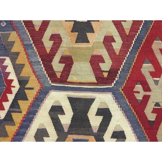 Vintage Turkish Kilim Rug - Image 6 of 9
