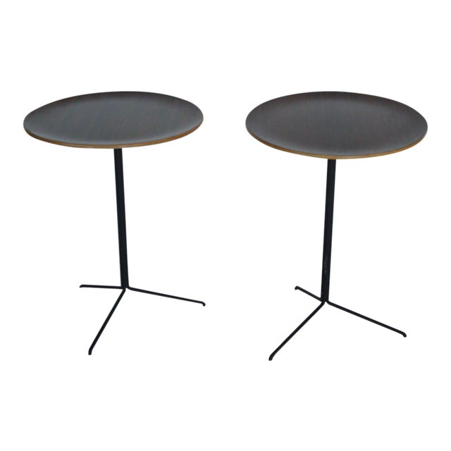 1950s Mid-Century Modern Osvaldo Borsani for Tecno Occasional Tables - a Pair For Sale - Image 9 of 9