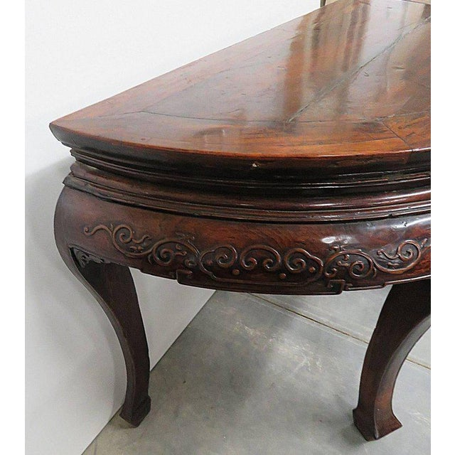 Antique Demilune Hall Table For Sale - Image 9 of 13