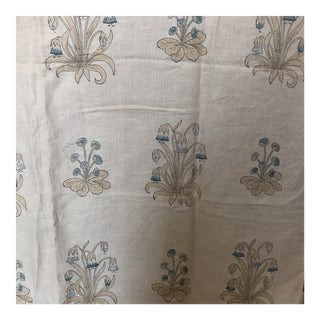 Designer Linen Embroidered Fabric - 2.25 Yards