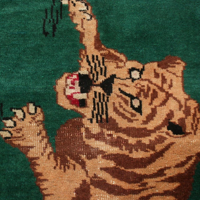 "Mid-Century Modern Vintage Mid Century Tiger Wool Rug-3'5'x6"" For Sale - Image 3 of 7"