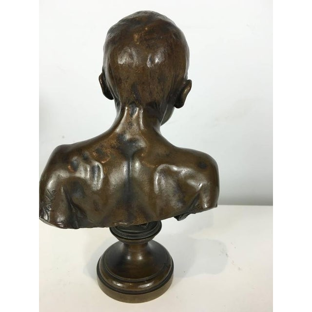 Bronze Portrait Bust of a Youth - Image 3 of 5