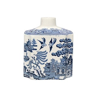 Antique English Willow Tea Canister For Sale