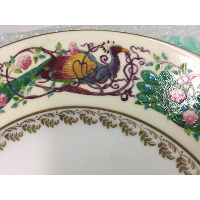 Green 12 Wedgwood Peacock Plates Handpainted For Sale - Image 8 of 11