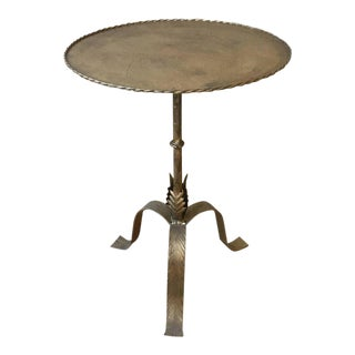 20th Century Spanish Metal Side Table For Sale