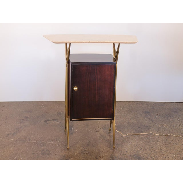 1960s Gio Ponti Style Marble Dry Bar For Sale - Image 5 of 11