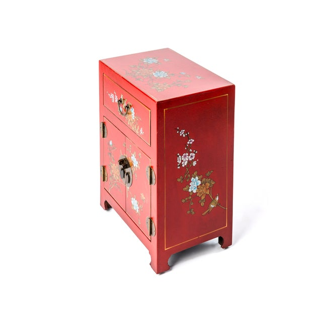 Early 21st Century Asian Style Shanxi Handpainted Motif End Table For Sale - Image 5 of 6