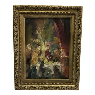 Abstract M.Cabrera Framed Oil Painting For Sale