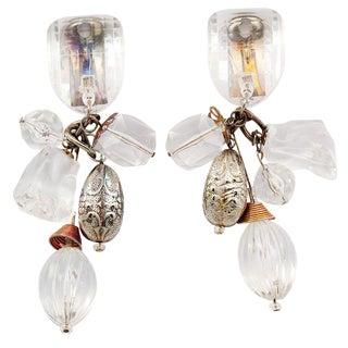 Lucite Dangle Earrings For Sale