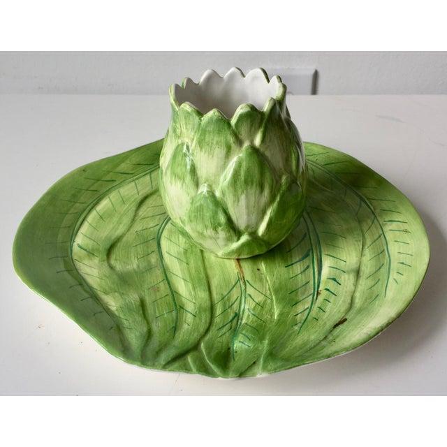 1970s Este Ceramiche-Italian Faience Dish & Cup For Sale - Image 5 of 10