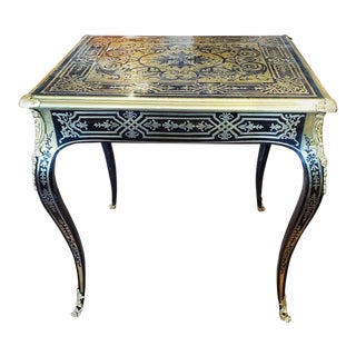 Early 18th Century Regence Period Boulle Inlaid Side Table For Sale