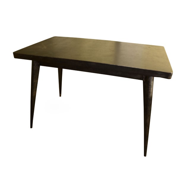 French Tolix Cafe Table - Image 1 of 2