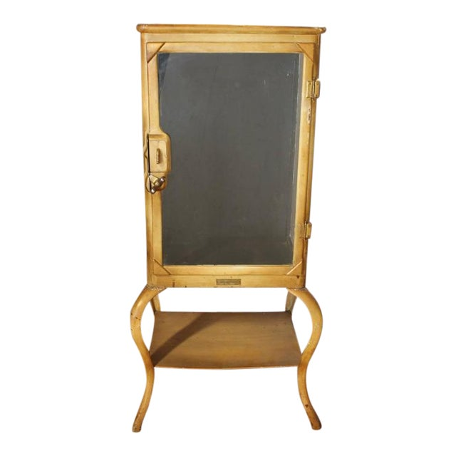 Early 20th C. Antique American Medical Cabinet with Original Hardware For Sale