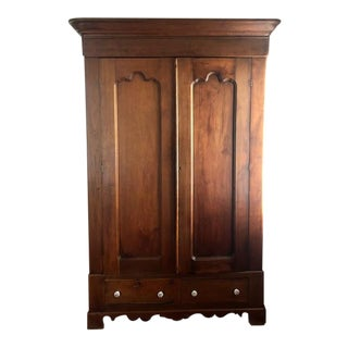 Late 19th Century Antique Walnut Armoire For Sale