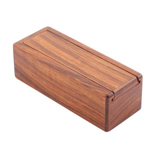 1980's VINTAGE JERRY MADRIGALE WOODEN BOX For Sale